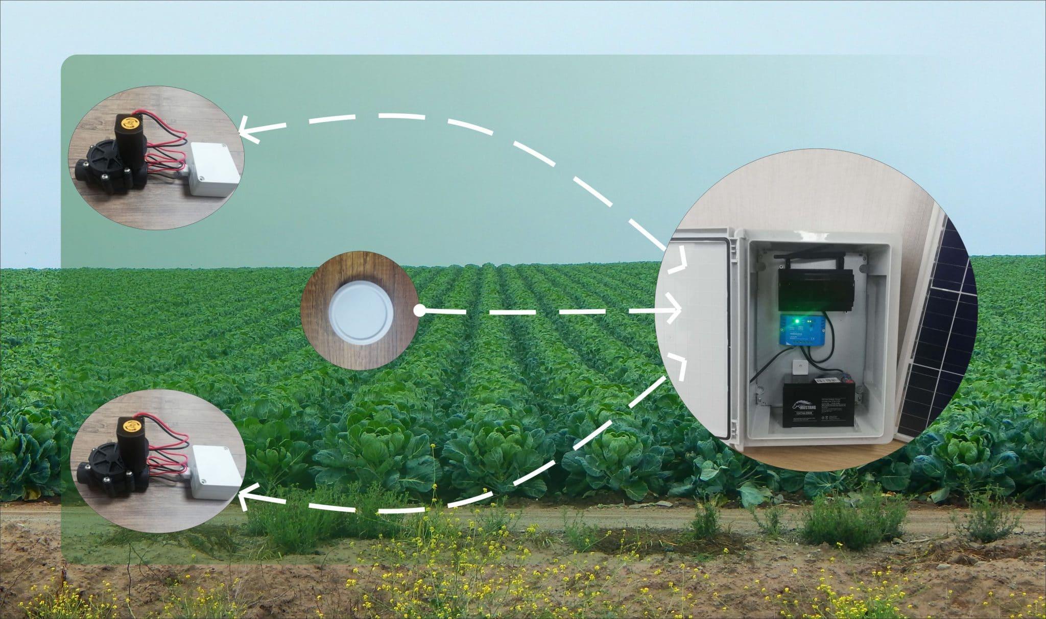 Tarımsal akıllı tarımsal sulama sistemi