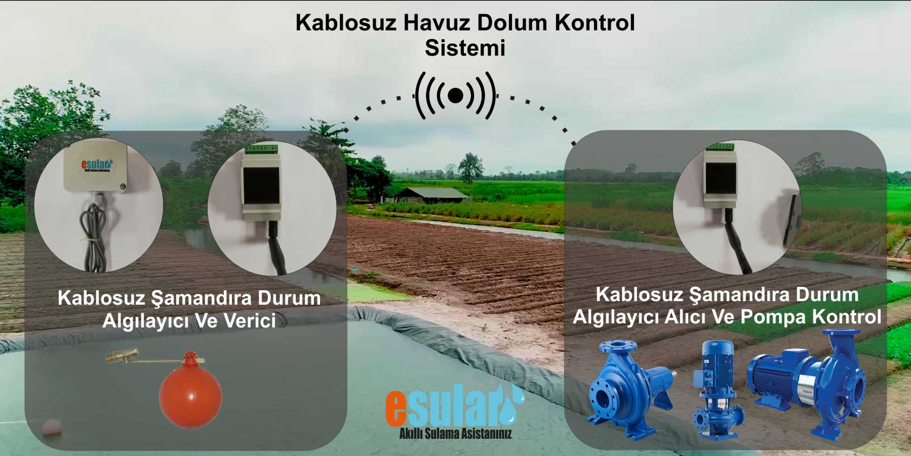 kablosuz havuz dolum kontrol sistemi