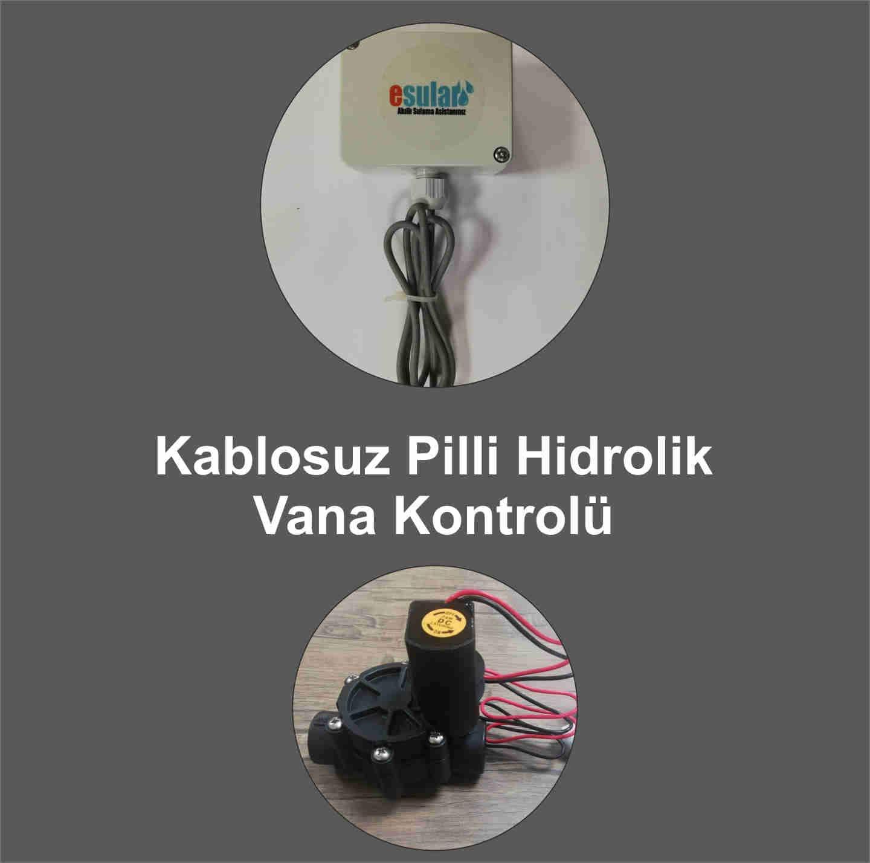 Kablosuz Pilli Hidrolik Vana Kontrolü