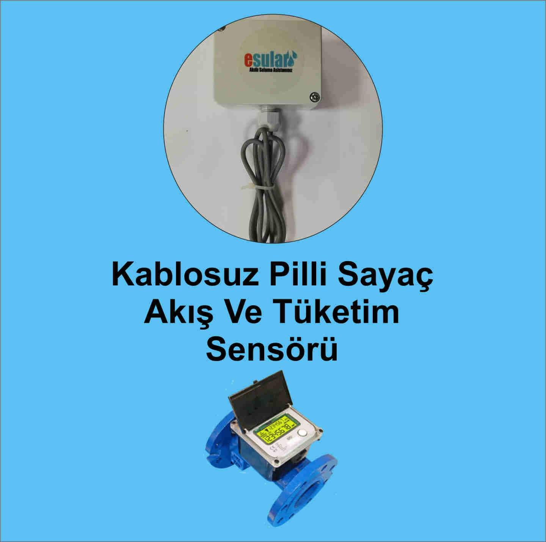 Kablosuz Pilli Sayaç Akış Ve Tüketim Sensörü