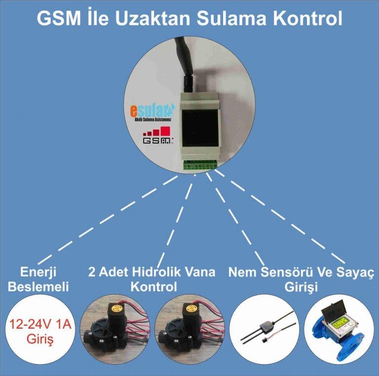 GSM İle Uzaktan Otomatik Sulama Kontrol