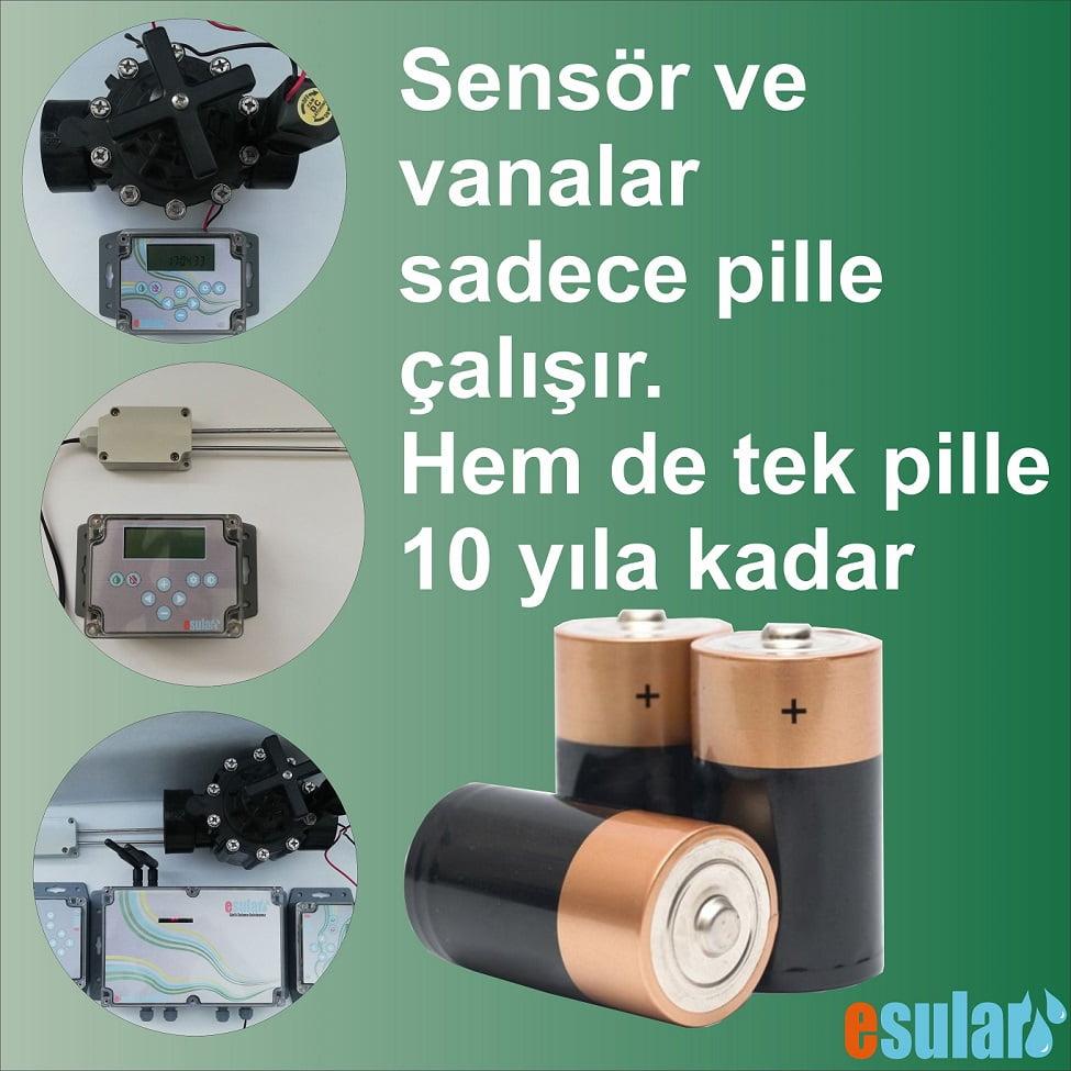pilli hidrolik vana ve pilli sensör sistemleri