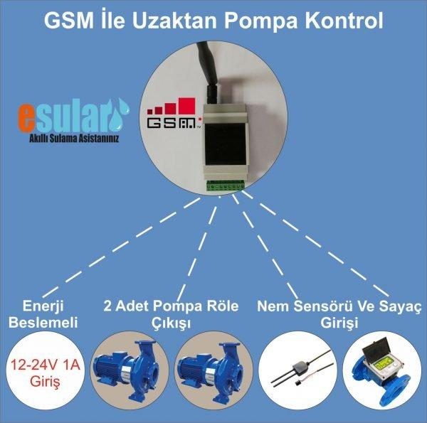 GSM ile uzaktan otomatik pompa kontrol