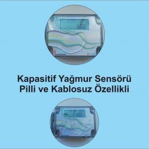 Kablosuz Pilli Kapasitif Yağmur Sensörü