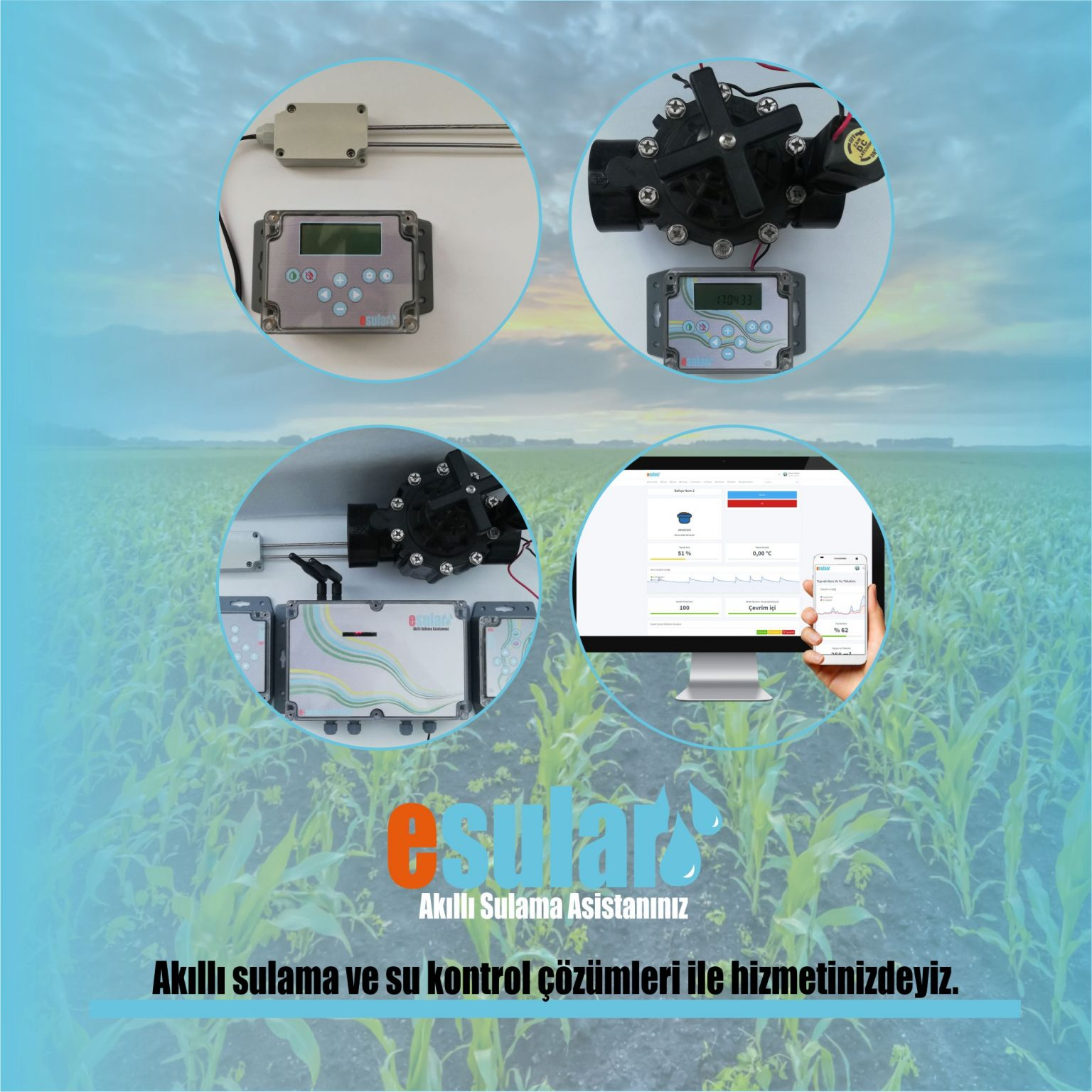 Otomatik sulama sistemi birleşenleri