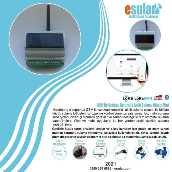 GSM ile uzaktan otomatik sulama kontrol cihazı